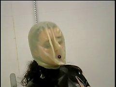 Dominatrix Chokes Her Slave in Toilet