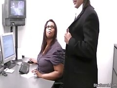 He cheating with fat ebony secretary
