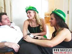 Exuberant Step-Mother AJ Applegate And Keisha Grey In Threesome
