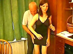 Oops, Grandfather Pets Shy Slut