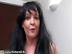 Brunette granny with big tits loves part4