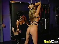Blonde Slave Abused By The Mistress