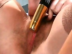 Busty blonde slut goes crazy