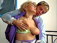 Hot Blonde Euro Granny Cougar Banging