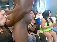 Slutty cfnm blowjob party with amateurs