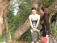BDSM of bewitching babe enjoying all fetish things
