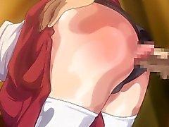 Bondage hentai coed brutally poking and creampie