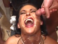 Orgy Of Cumshots On Bukkake BVR