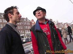 Dutch prossie jizzed on