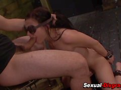 Teens throat rough fucked