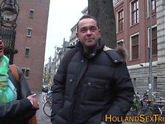 Dutch hooker eats pussy