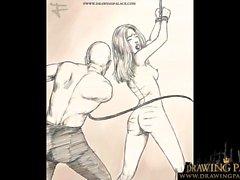 Cartoon Drawing Porn BDSM Rough Fetish comic on bitcoin