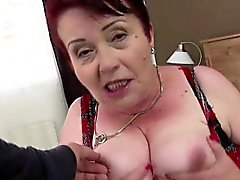 Huge titted hairy granny gets banged hard