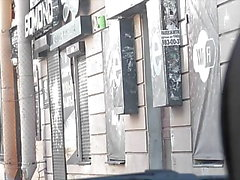 BULGE DICK FLASH on street 6