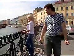 Blonde Italien en anale baise