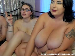 Lucky Guy Gets To Fuck Two BBWs....
