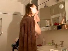 Petite 22yo russian taking a shower