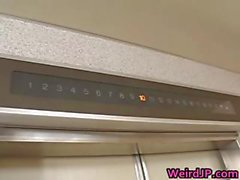 Asian models are fucked in an elevator 8 part5