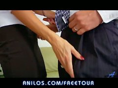 Cum on her huge milf tits