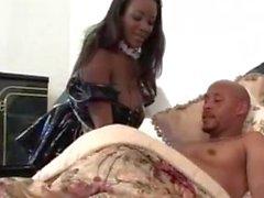 Busty Ebony Sierra As A Maid