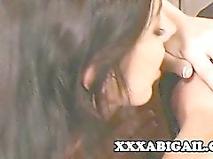 Horny lesbians India and Franchezca having a relaxation by