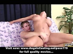 Petite blonde riding cock and doing titsjob and cumshot on tits