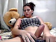 Pretty Latina fap on camera