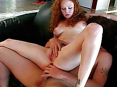 Filthy redhead Audrey gets pleased