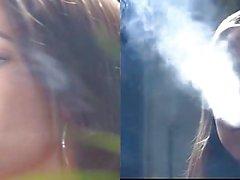 Smoking JOI with split screen