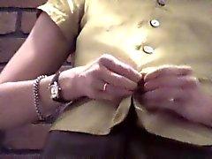 Brunette in Brick Dressing Room Voyeur Video