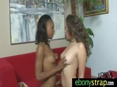 Strapon dildo for this sexy lesbian honey interracial 6