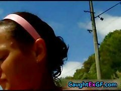 Hot tanned gf outdoor blowjob part6