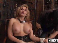 hot pornstar bdsm with cumshot segment