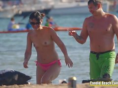 Horny Topless Beach Girls Voyeur Video HD
