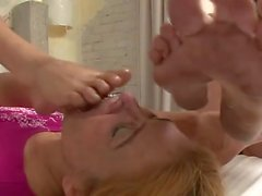 Female Dirty Feet Licked Clean