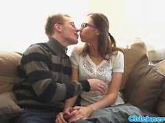 Spex amateur pussyfucked in many poses