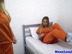Prison lezdom sex with busty british blondes