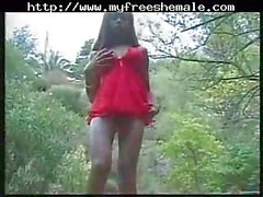 Lisa Lawrence In Red Fucking Outside
