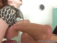 Lady Sonia - Double team merciless handjob