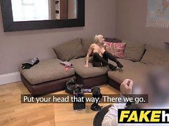 Fake Agent UK Cute horny MILF with shaven pussy