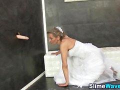 Fetisch Braut bekommt bukkake