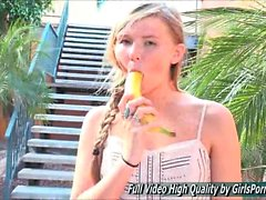 Melissa amateur sex banana outside finger