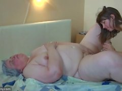 Fat mature and young pretty girl enjoy