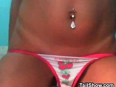 Sexy Web Cam Girl Strips And Masturbates