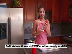 Alexa Loren tender naked brunette in the kitchen
