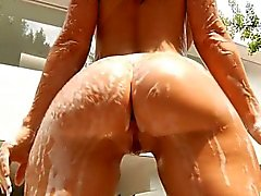 Bubble butt whore Jayden James ass fucked and facialed