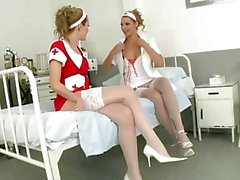 Sexy nurses having fun