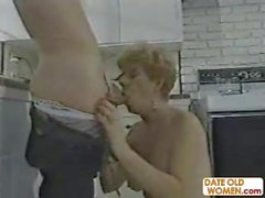 73 year old granny fucked in the kitchen