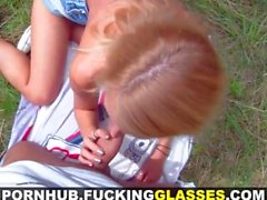 Fucking Glasses - Greedy slut fucked cheap