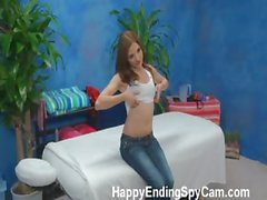 Our hidden spy cameras caught Evilyn the massage therapist giving more than a massage!